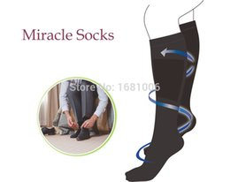 Wholesale Leg Massaging Socks - Wholesale-miracle socks 2 pairs pack soothe tired,achy legs & feet reduce swelling enhance circulation massages as you move CC006