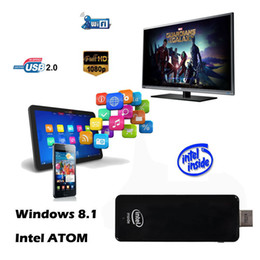 Wholesale Computer Tv Free - Wholesale-2015 new CSW10 Intel Mini PC TV Box Quad Core 1.83Ghz CPU 2GB+32GB Dual Android 4.4   Windows 8.1 mini pc computer free shipping