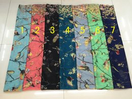 Wholesale Lightweight Fashion Scarves - Fashion Branch Flower And Print Animal Scarf Women Tree Bird Shawl Wrap Animal Pattern Hijab Soft Lightweight Hijab 7 Color, Free Shipping