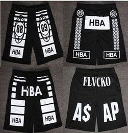 Wholesale Beach Boardshorts - Wholesale-BA-15 Harajuku basketball shorts men HBA shorts basketball shorts Beach Sports Boardshorts Flvcko Trapgoos Crwn Loose shorts