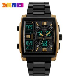 Wholesale Counting Watch - wholesale 2017 new Men Fashion Watches Count Down Chronograph Alarm Sport Watch Watwrproof EL Light Digital Wristwatches Relogio Masculino