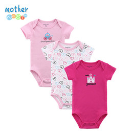 Wholesale Newborn Baby Clothes For Winter - Mother Nest 3 Pcs  Lot Baby Romper Girl Boy Short Sleeve Leopard Print Summer Clothing Set For Newborn Next Jumpsuits &Rompers