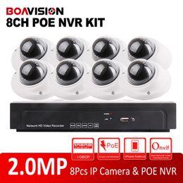 Wholesale Security Cameras Vandal Proof Dome - 8CH CCTV System 1080P NVR HDMI 8Pcs ONVIF P2P IR 10m Indoor Vandal-Proof Dome IP Camera 2.0MP Security Surveillance NVR Kits
