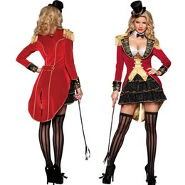 Wholesale Sexy Adult Ladies - Sexy Lingerie Carnival Ringmaster Ladies Fancy Dress Circus Lion Tamer Womens Adults Costume M8827