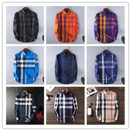 Wholesale Slim Fit Shirt Check Men - Brand Men's Business Casual shirt mens long sleeve striped slim fit camisa masculina social male T-shirts new fashion man checked shirt