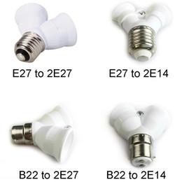 Wholesale B22 E27 Converter - E27 light lamp Holder bulb adapter converter 2 in 1 E27 to E14,B22 to E14,B22 to E27 Light Bulb Socket Adapter 2 Way Splitter