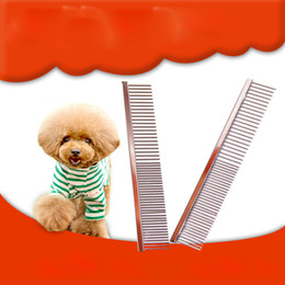 Wholesale Dog Rake - Stainless Steel Pet Brush Grooming Comb Brush High Quality Double Head Dog Cat Trimmer Comb Brush