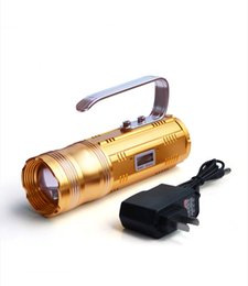 Wholesale Bulb Flash Drives - 3 Color Lights Flash Light 3 CREE XPE Bulbs Waterproof Switch 100 Metets Outdoor Camping Fishing Flashlights Lamps SL-LF-1244