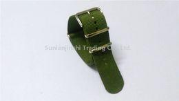 Venta caliente Moda 18 20 22 24mm Verde Nylon NATO G10 Zulu Correas de reloj Reemplazar banda de reloj + Hebilla de acero inoxidable Envío gratis-106 desde fabricantes