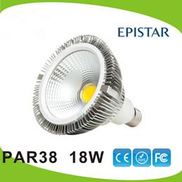 lâmpada led 18w e27 cob Desconto Garantia 3 anos + E27 PAR38 Cob lâmpadas LED 18W Regulável 90-260V Quente Pure Cool White Led Holofotes Atacado