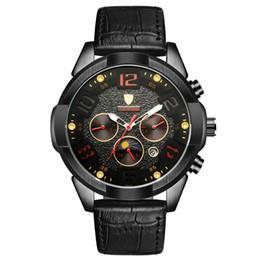 Wholesale Fashion Watchs - Fashion Automatic mechanical watch casual multifunctional calendar man watchs leather belt strap luxury Luminous Waterproof Wristwatch