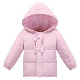 Wholesale Newborn Baby Winter Jacket - Soft~Infant Fashion Autumn Winter European Style Baby Cotton Jacket Brand Pink Baby Girl Coat Newborn Clothing Bebe Clothes 0~2