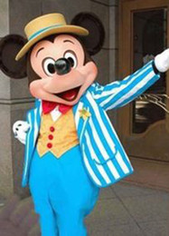 Wholesale Navy Mascot Costumes - Brand New Navy Blue Mickey Mouse Mascot Costume Adult Size Fancy dress