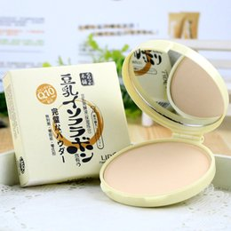 Wholesale Soy Milk Wholesale - Wholesale-2015 Promotion Real Point Lideal Soy Milk Whitening Oil Control Moisturizer Double Powder Concealer To Brighten The Complexion