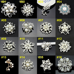 Wholesale Plastic Invitations - 1pcs Retail & Wholesale Top Quality Brooch Retro Bouquet Wedding Invitation Vintage Brooch Pieces Flower Pearls Brooches lot BRW03