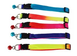 Wholesale Kitten Collars Bells - Dog Supplies 1.0*34Cm Dog Collars Nylon Shiny Colors Cute Kitten Adjustable Dogs Collar Bells Small Pets Supplies Accessories MYY