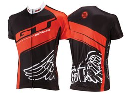 Wholesale Gt Free - Wholesale-2015 GT Short Sleeve XC Cycling Jersey & Bib Shorts with 3D pad, bicycle clothing free shipping