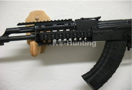 Wholesale Ak47 Rail Mount - Tactical AK47 Quad Rail System Picatinny Weaver Rail Handguard Mount AK 74 Gun Mount Red Dot Sight Mounts