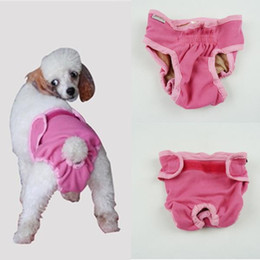 Wholesale Cotton Dog Diapers - Free shipping!Washable Dog Diapers Cover Ups Sanitary Dog Pants for XS to XL Extra Large Dogs