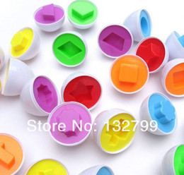 Wholesale Wisdom Smart - Wholesale-6 x Wise Pretend Puzzle Smart Egg Toy Wisdom Baby Learning Kitchen Party Gift Set