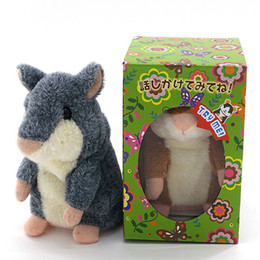 Wholesale Electronic Hamsters - Talking Hamster Repeats What You Say The Cute Plush Animal Toy Electronic HamsterTalking Toys Mouse Pet Plush DHL free OTH092