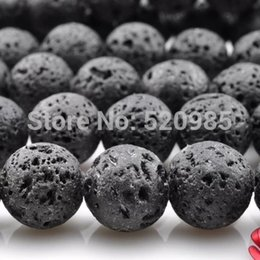"""Wholesale 14mm Agate Round Beads - Wholesale-4mm 6mm 8mm 10mm 12mm 14mm Natural Black Volcanic Lava Stone Round loose Beads Gemstone agate beads 15.5"""" Pick Size"""
