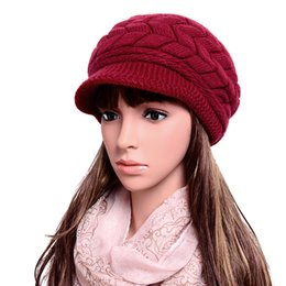 womens crochet beanie Coupons - Wholesale-High Quality Fashion Womens Lady Winter Warm Knitted Crochet Slouch Baggy Beanie Hat Cap Beret