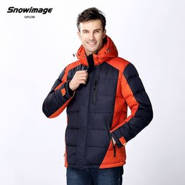 Wholesale Snowimage Down Coats - 1601 SNOWIMAGE Winter Men's Clothing Down Jackets Hooded Zipper Collar Regular thick Coat Men Parkas Free shipping SIDM-Q304