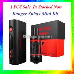 Wholesale E Cigarette 1pcs - 1PCS Sale Kan-ger Subox Mini Starter kit Hot Sale 50W 0.3ohm e cigarette Vapor VS Subtank mini free shipping