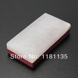 Wholesale Knife Sharpener Free Shipping - Free Shipping 3000&10000 Knife Razor Sharpener Fine Stone Whetstone Oilstone Polishin Grit