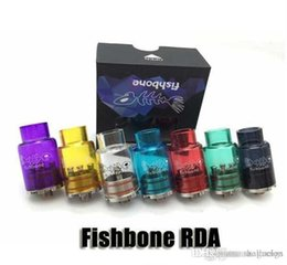 Wholesale Metal Boning - 2015 Colorful FishBone RDA Atomizer Stainless steel and Glass rba rebuildable Clear Tank 22mm Fish bone 1:1 Clone