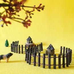 Wholesale Garden Stones Sale - sale~20Pcs wood round fence bar  fairy garden gnome moss terrarium home decor crafts bonsai bottle garden miniatures c077-78