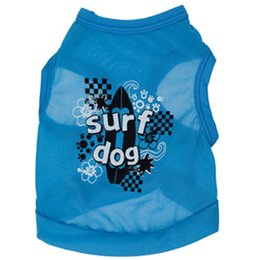 "Wholesale Surf Clothes Shirt - New Dog summer cloth pet ""surf dog"" T-shirt printing T-shirt ,Dog Clothes,Dog Shirtfor small animals pet apparel Free shipping"
