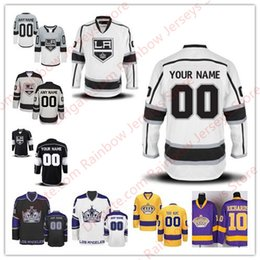 Wholesale Red Gray Hockey Jersey - Custom Los Angeles Kings Hockey Jerseys Personalize Men Women Youth Stitched Old Brand Black White Third Gray Yellow Gold Crown Purple S-4XL