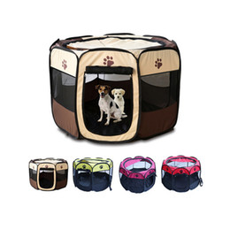 Wholesale Folding Crates - 2017 Pet Tent Portable Playpen Dog Folding Crate Doghouse Puppy Pen Soft Kennel New Dog and Cat Cage (Size S)