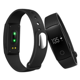 Wholesale Smartphone Heart Monitor - Fitbit ID107 Bluetooth Heart Rate Monitor Smart Band Bracelet Bangle Smartband Fitness Tracker Sports Wristbands for Android iOS Smartphone