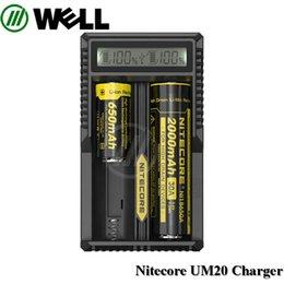 Wholesale Wholesale Rcr123a Batteries - NITECORE UM10 UM20 Digicharger LCD Display Battery Charger Universal Nitecore Charger for 18650 17650 17670 RCR123A 16340 14500 Batteries