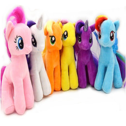 """Wholesale Cute Stuffed Horse Toys - Wholesale-New Cute My Little small Horse 7"""" Figures Stuffed Plush Soft Teddy doll Toy Gifts for Xmas"""
