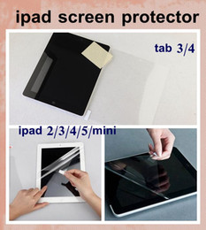"Wholesale Clear Touch Screen - high clear samsung lenovo tablet ipad Screen Protector for iPad Mini ipad air ipad 2 3 4 5 tab3 4 7"" 8"" 10.1"" film for touch screen SSC003"