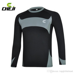 Wholesale Cheap Cycling Jerseys Men - Grey Warm Bike Cycling Jerseys Sets Thermal Fleece Underwear Garment CHEJI Man Winter Windproof Bicycle Clothing Suits Warm Top Sale Cheap