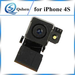 Wholesale Original Rear Back Camera 4s - For iPhone 4 4S Back Camera Main Rear Camera Module Flex Cable Flex Replacement Parts Original Quality