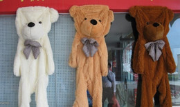 Wholesale Empty Teddies - Wholesale-2015 High quality plush toys 3 colors 160cm Huge plush Teddy bear shell coat without cotton skins empty coat birthday gift