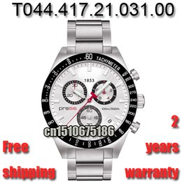 Wholesale Men Watches Sapphire Glass - Hot New T044.417.21.031.00 Top Luxury Band Watch Military Sport Wristwatches Men Quartz Chronograph Watches T044 Sapphire Glass Watch PRS516