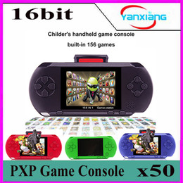 Wholesale Tv Video Games Player - 50pcs Portable Game player PXP 3 Handheld 16 Bit Game Console Retro Color Video Gamepad Game Controller For Kids Children Gifts BX-PXP3-1
