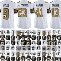 Wholesale Football Drew Brees - New Orleans Youth Men Saints 41 Alvin Kamara 23 Marshon Lattimore 9 Drew Brees 13 Thomas Adrian Peterson Vapor Untouchable Limited jerseys