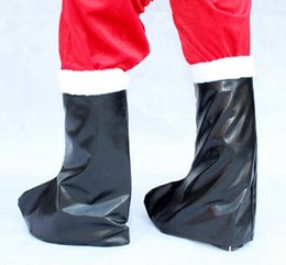 Wholesale Santa Boots Decorations - 2015 new Garment leather boots - Santa Claus shoes boots Santa Claus boots 100g Christmas gift items for Men SD-13