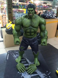 Wholesale Can Scale - 2017 Avengers Hulk Super Heroes 1 6 Scale Pants can be taken off PVC Action Figure collectible Model Toys 26cm Toys Gifts