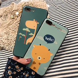 Wholesale Deer Case - 2017 Japanese Style Empaistic Cartoon Deer Phone Shell Silicone TPU Phone Case Cover Back For iPhone 6 6s p 7 7p