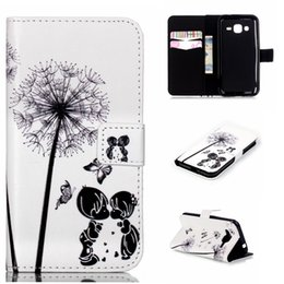 Wholesale Skin Galaxy Ace Plus - New Relief Painted patterns Skin Book Leather Case with Stand and Card Holder for Samsung Galaxy J1 Ace J110 J2 J200 S6 Edge + Plus Note 5