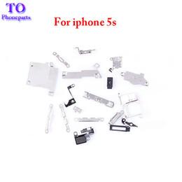 iphone innere klammern gesetzt Rabatt 10 satz 21 in 1 Für iPhone 5 5G 5C 5S Inneres Zubehör Innen Kleine Metallteile Halter Befestigung Halterung Schildplatte Set Kit